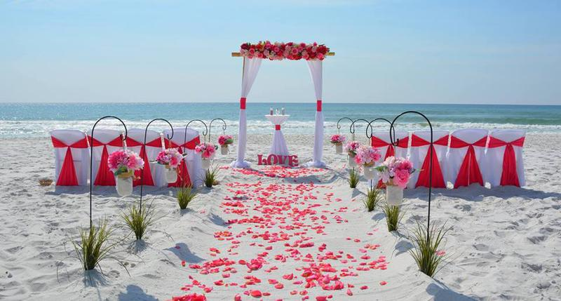 Hernando beach wedding